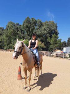תרין, רכיבה על סוס